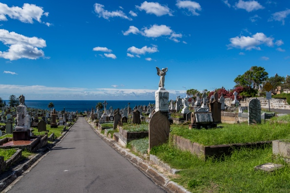 The beautiful Waverley Cemetery in Sydney