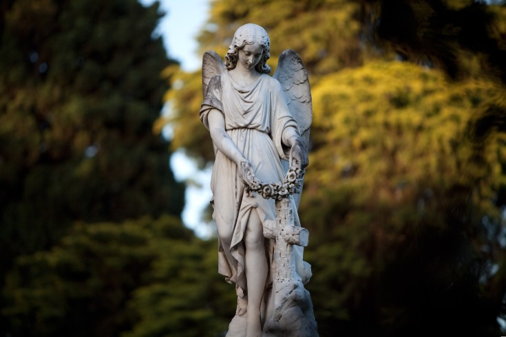 Watchful angel monument at Melbourne General Cemetery
