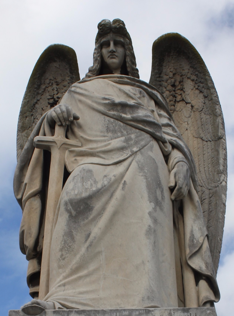 'Saint Michael the Archangel', Dawson Family memorial, Sculptor; Charles Summers, Melbourne General Cemetery