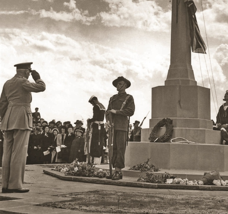A salute to cross of sacrific opening springvale Dec 1948